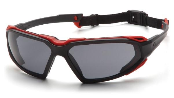 gafas de seguridad industrial pyramex highlander roja