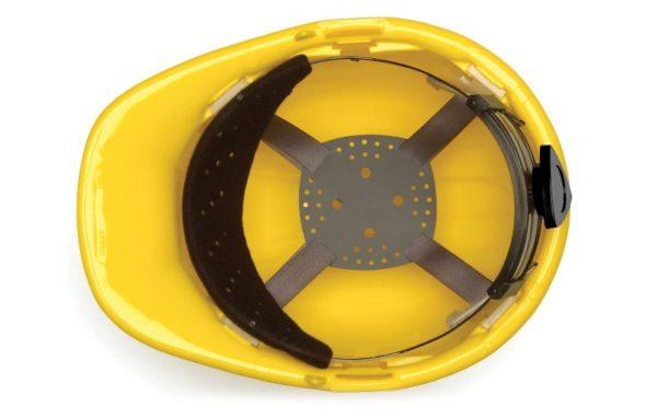 casco de seguridad capitan pyramex suspension de 4 puntos rachet