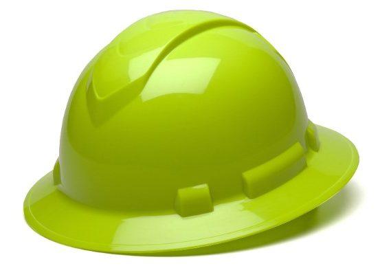 casco de seguridad pyramex ridgeline HIVIS fullbrim safar